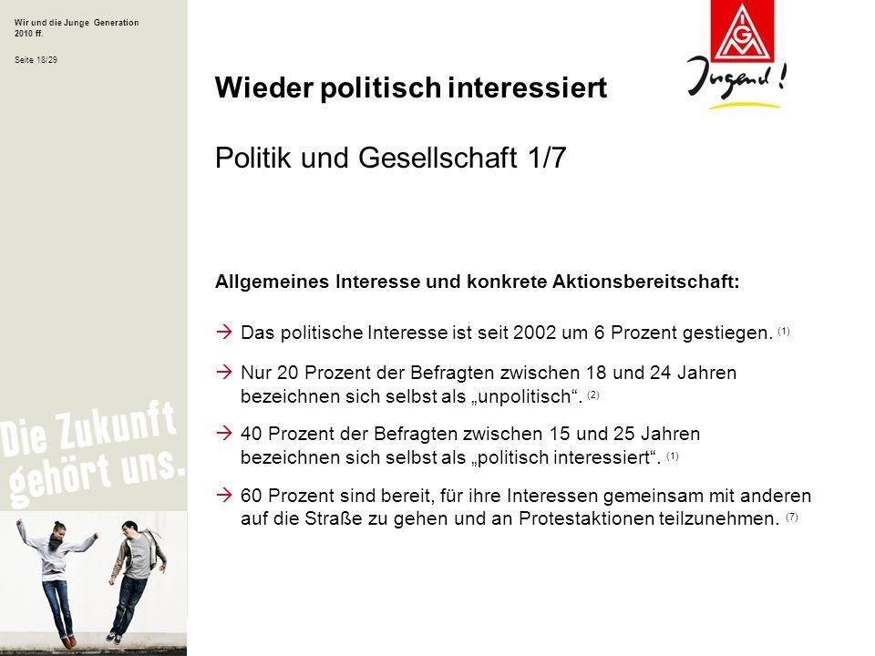 Wieder politisch interessiert Politik und Gesellschaft 1/7