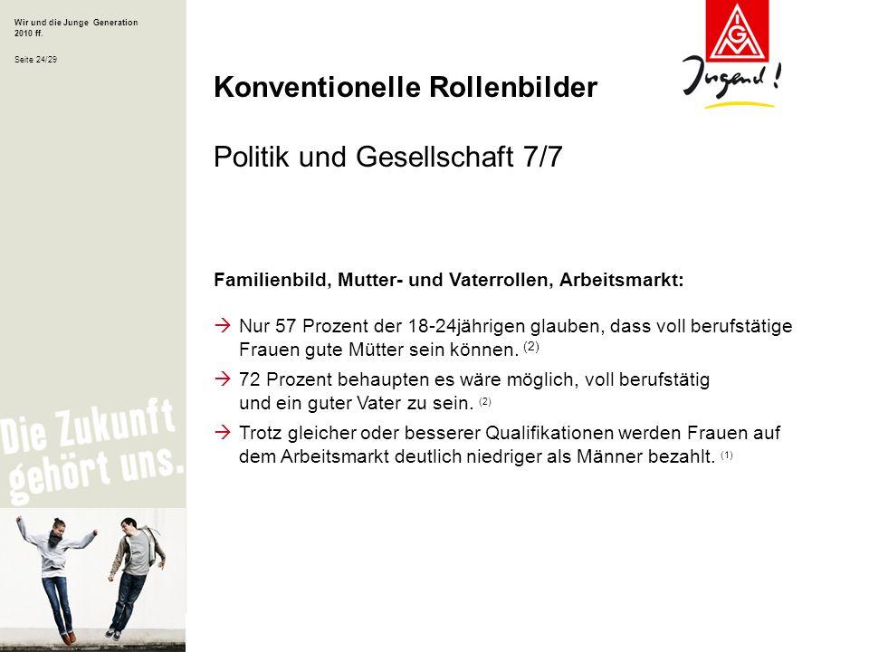 Konventionelle Rollenbilder Politik und Gesellschaft 7/7
