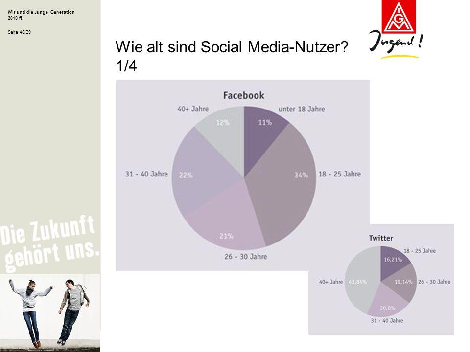 Wie alt sind Social Media-Nutzer 1/4