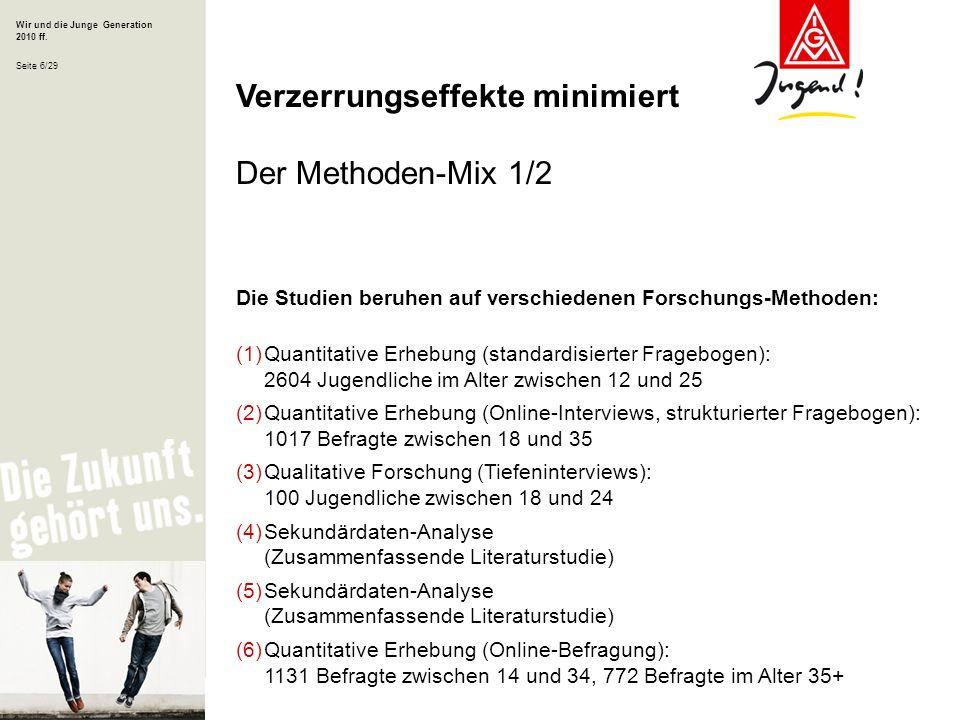 Verzerrungseffekte minimiert Der Methoden-Mix 1/2