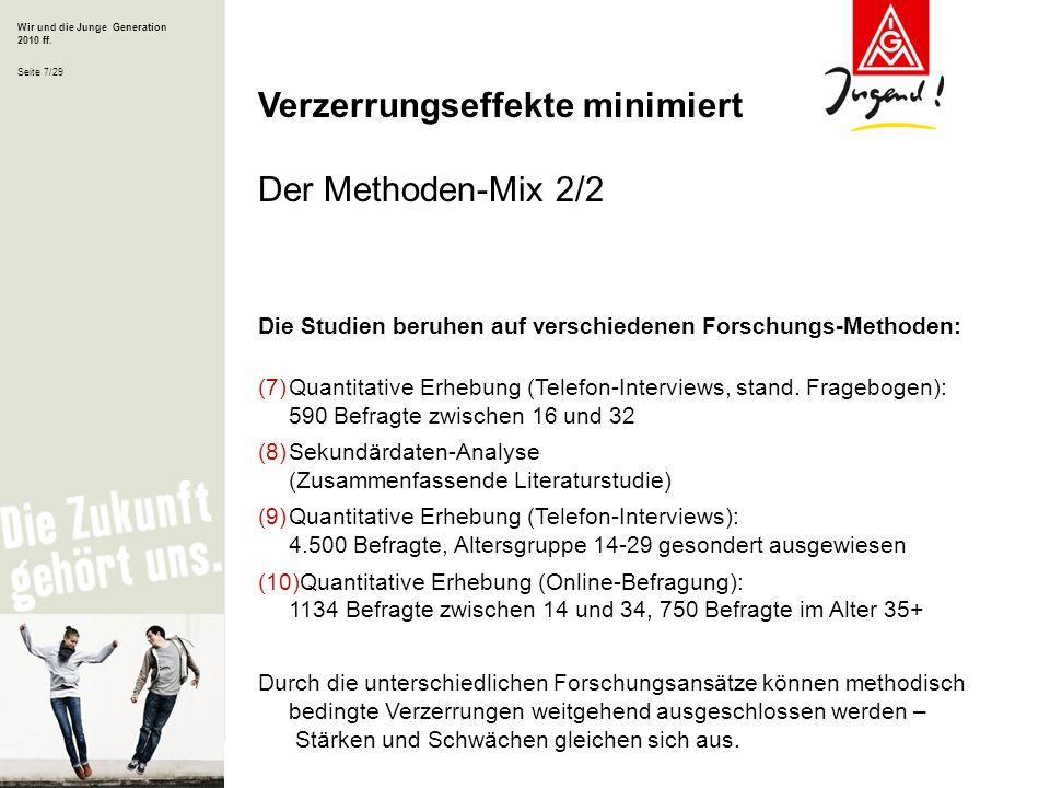 Verzerrungseffekte minimiert Der Methoden-Mix 2/2