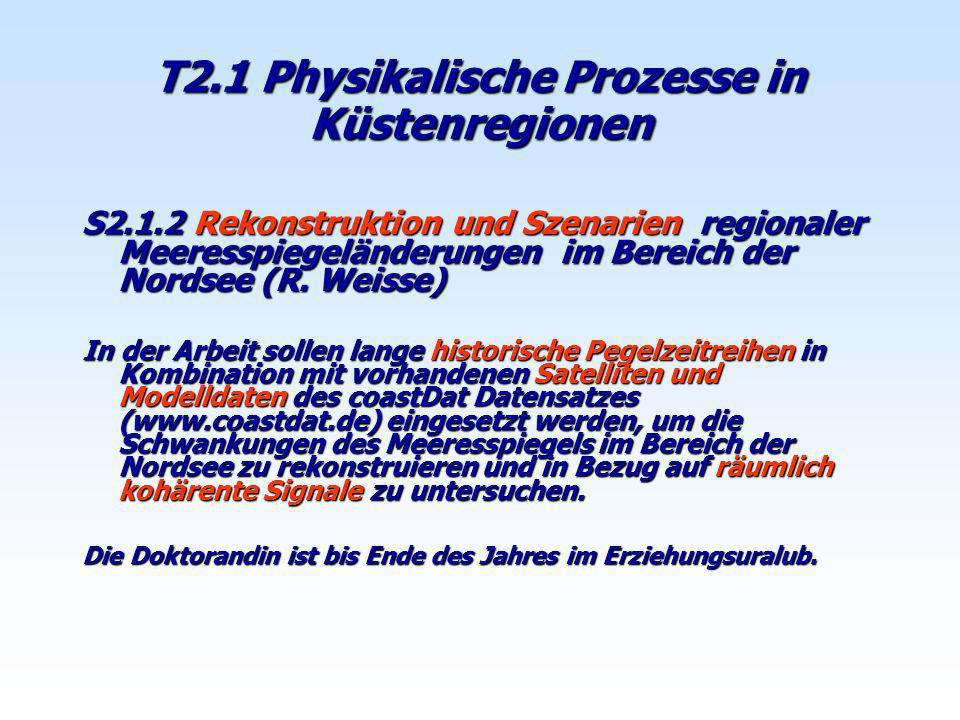 T2.1 Physikalische Prozesse in Küstenregionen