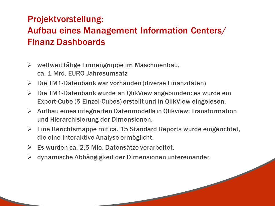 Projektvorstellung: Aufbau eines Management Information Centers/ Finanz Dashboards