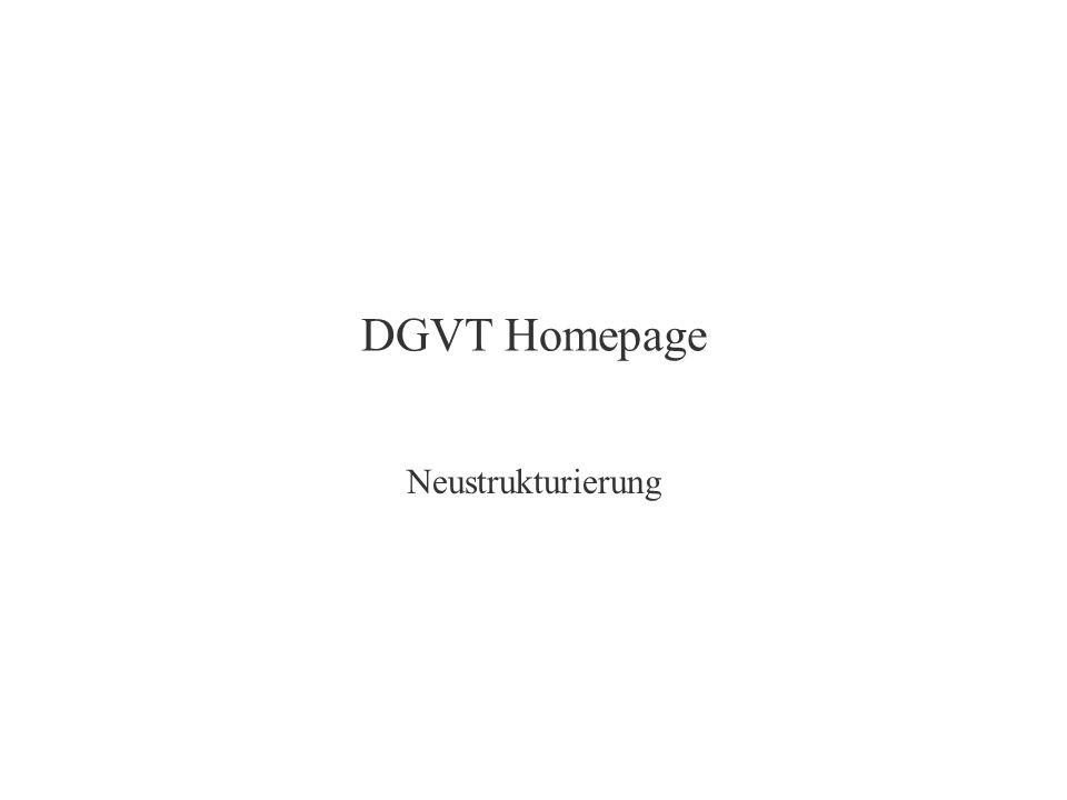 DGVT Homepage Neustrukturierung