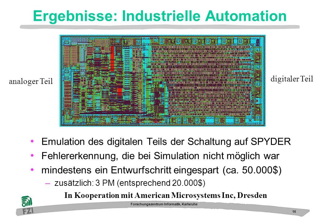 Ergebnisse: Industrielle Automation