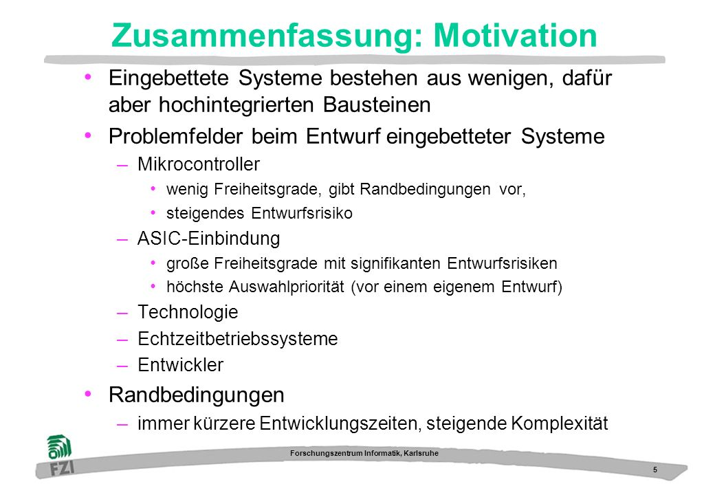 Zusammenfassung: Motivation