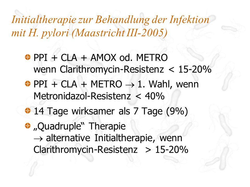 Initialtherapie zur Behandlung der Infektion mit H