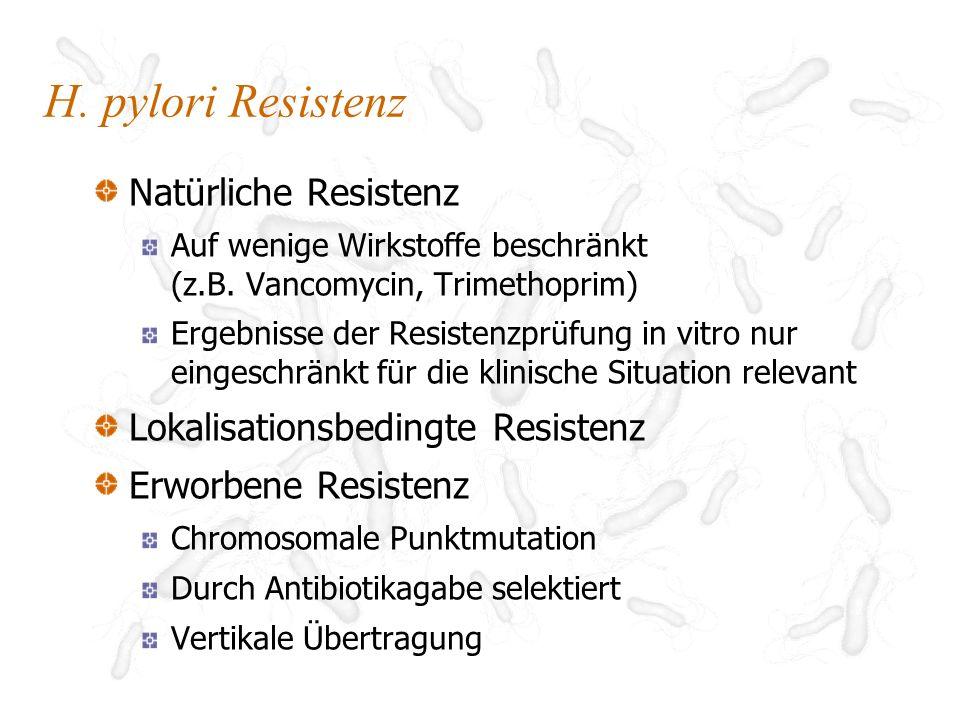 H. pylori Resistenz Natürliche Resistenz