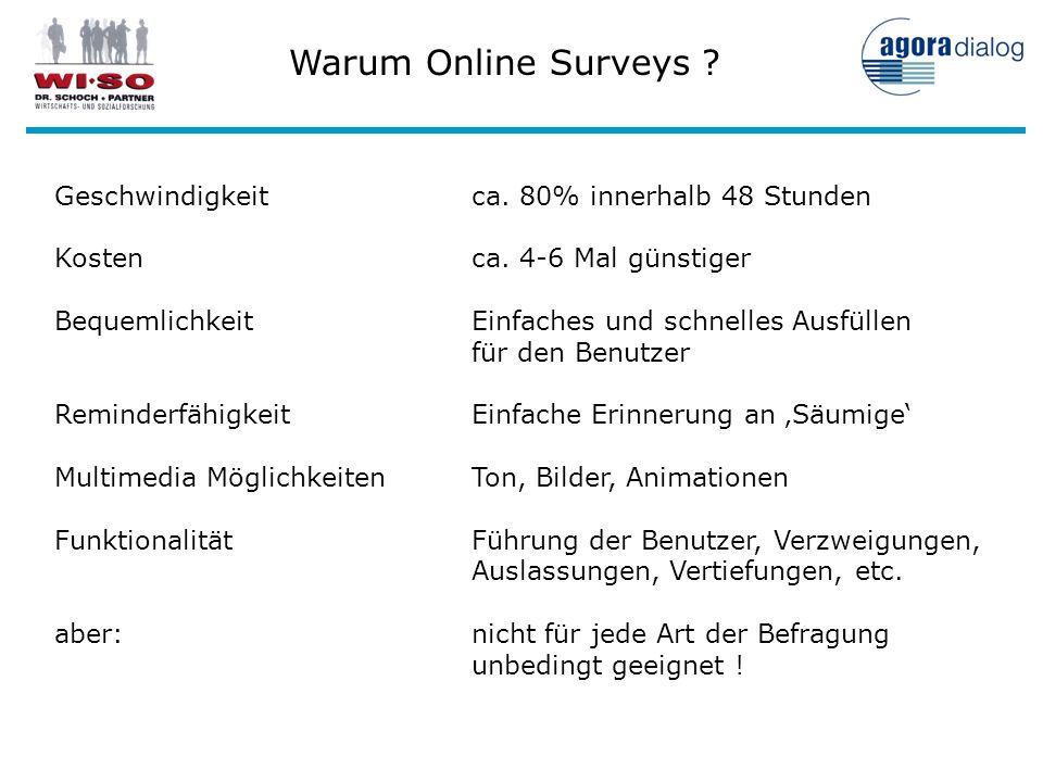 Warum Online Surveys Geschwindigkeit ca. 80% innerhalb 48 Stunden