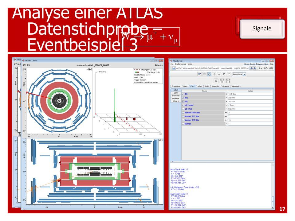 Analyse einer ATLAS Datenstichprobe – Eventbeispiel 3