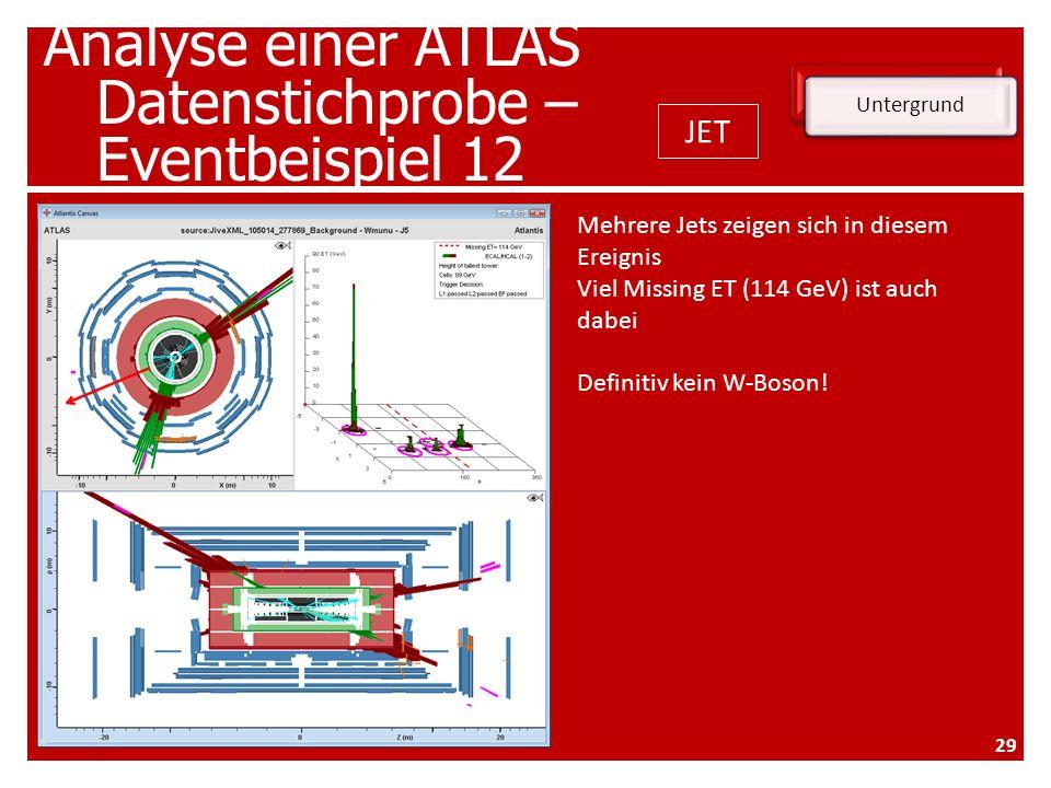 Analyse einer ATLAS Datenstichprobe – Eventbeispiel 12