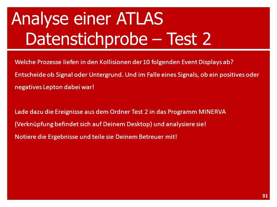 Analyse einer ATLAS Datenstichprobe – Test 2