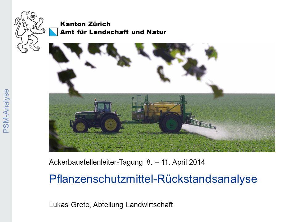 Pflanzenschutzmittel-Anlysen 2013