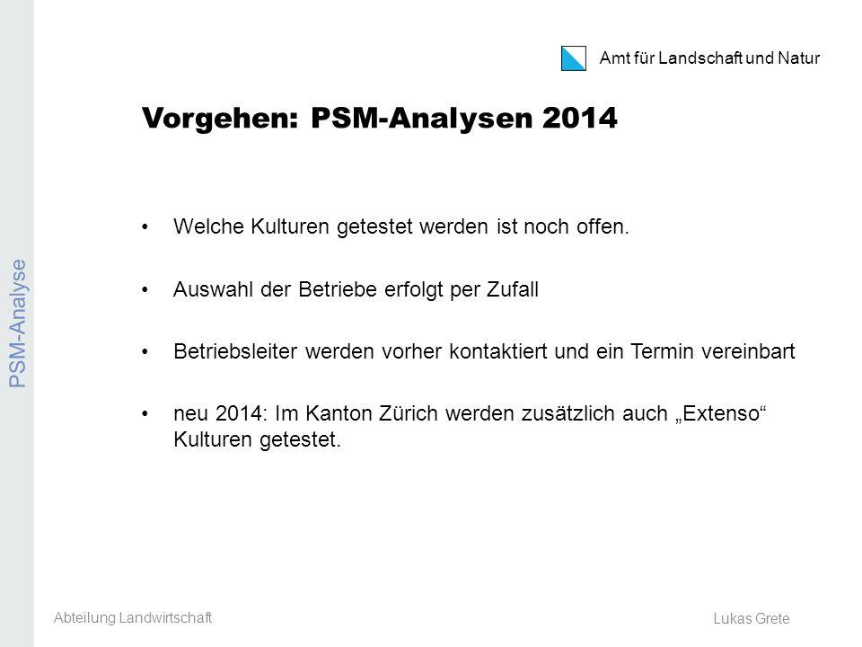 Vorgehen: PSM-Analysen 2014
