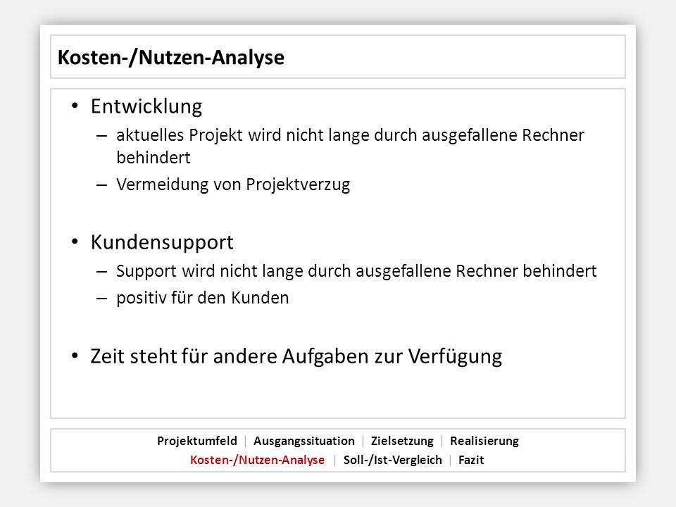 Kosten-/Nutzen-Analyse