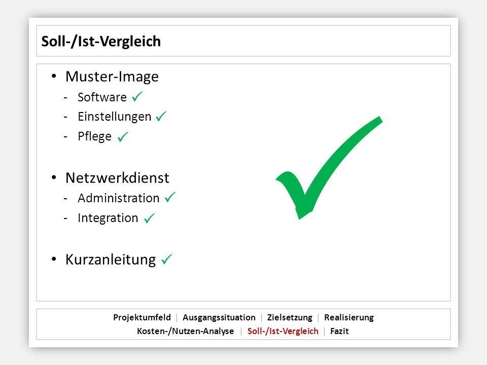 P Soll-/Ist-Vergleich Muster-Image P P Netzwerkdienst P Kurzanleitung