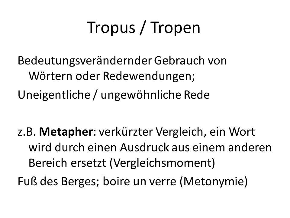 Tropus / Tropen
