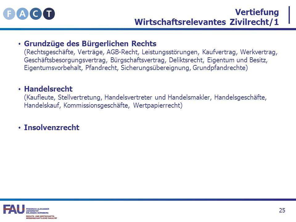 Vertiefung Wirtschaftsrelevantes Zivilrecht/1