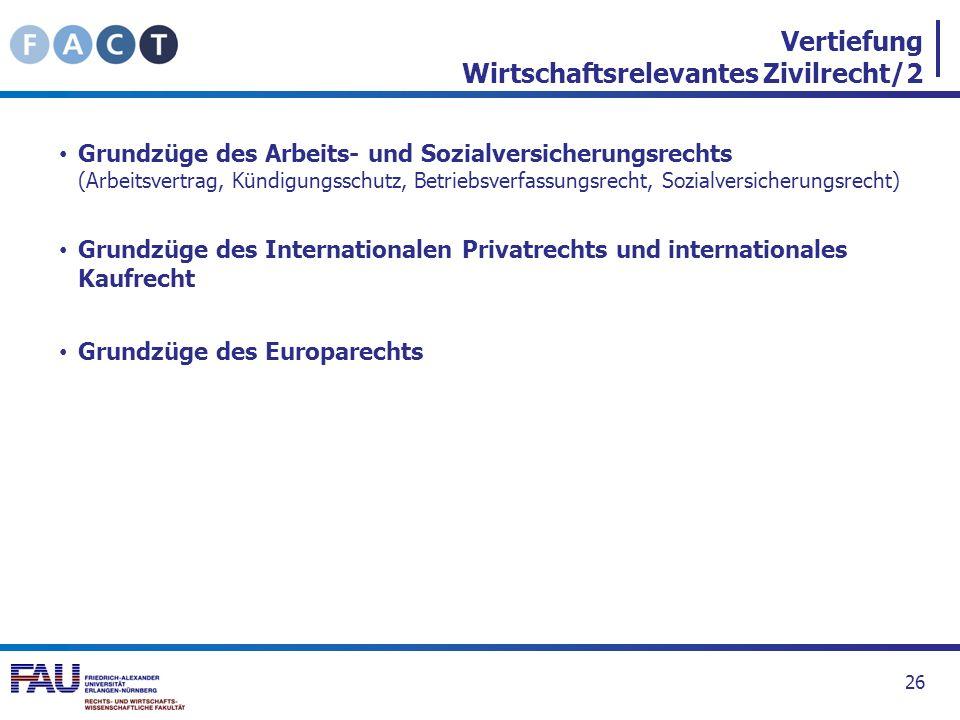 Vertiefung Wirtschaftsrelevantes Zivilrecht/2