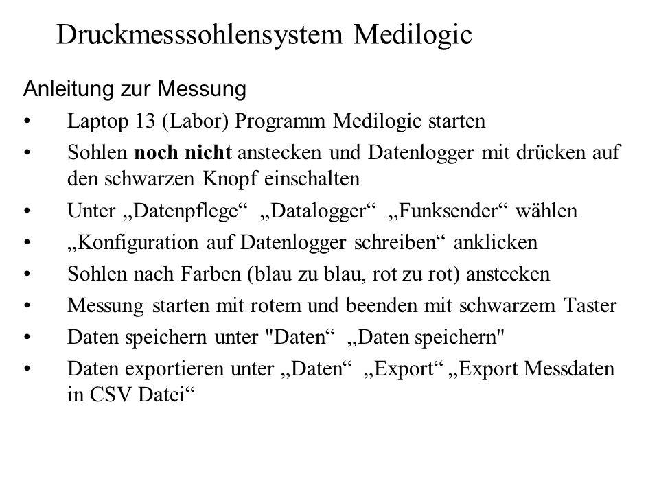 Druckmesssohlensystem Medilogic