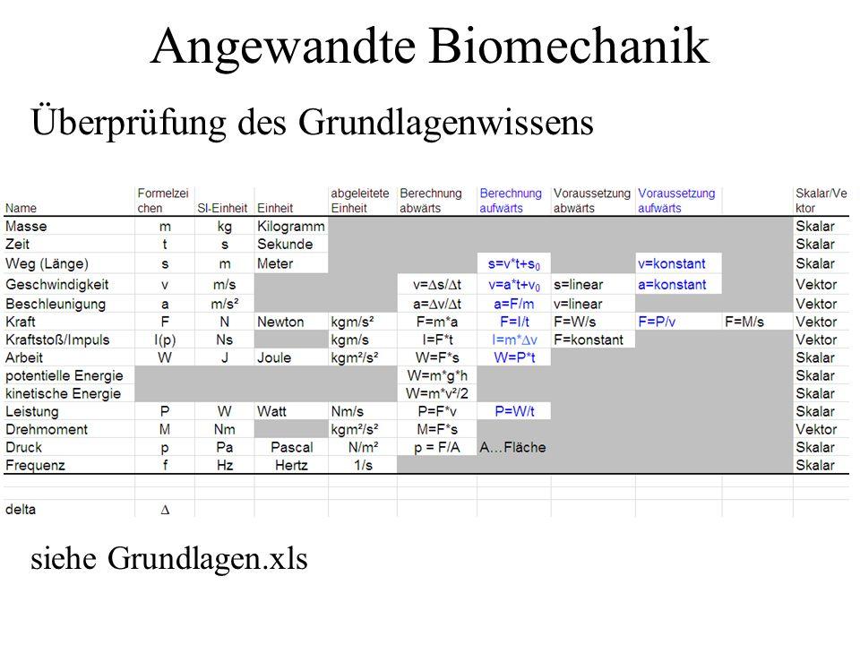 Angewandte Biomechanik