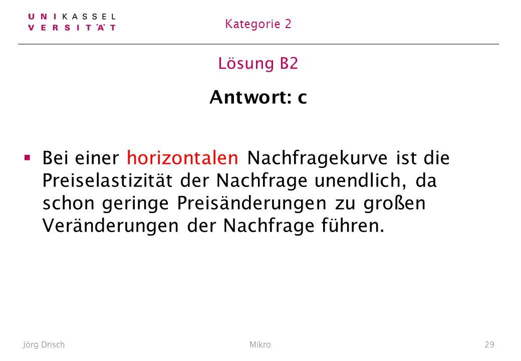 Kategorie 2 Lösung B2. Antwort: c.