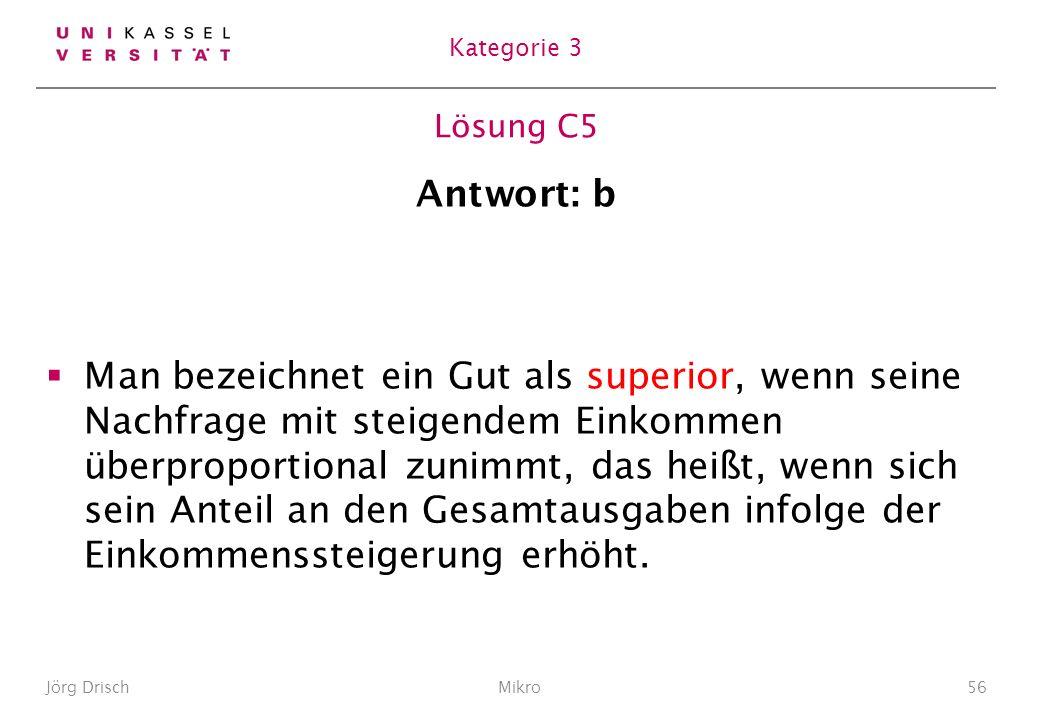 Kategorie 3 Lösung C5. Antwort: b.