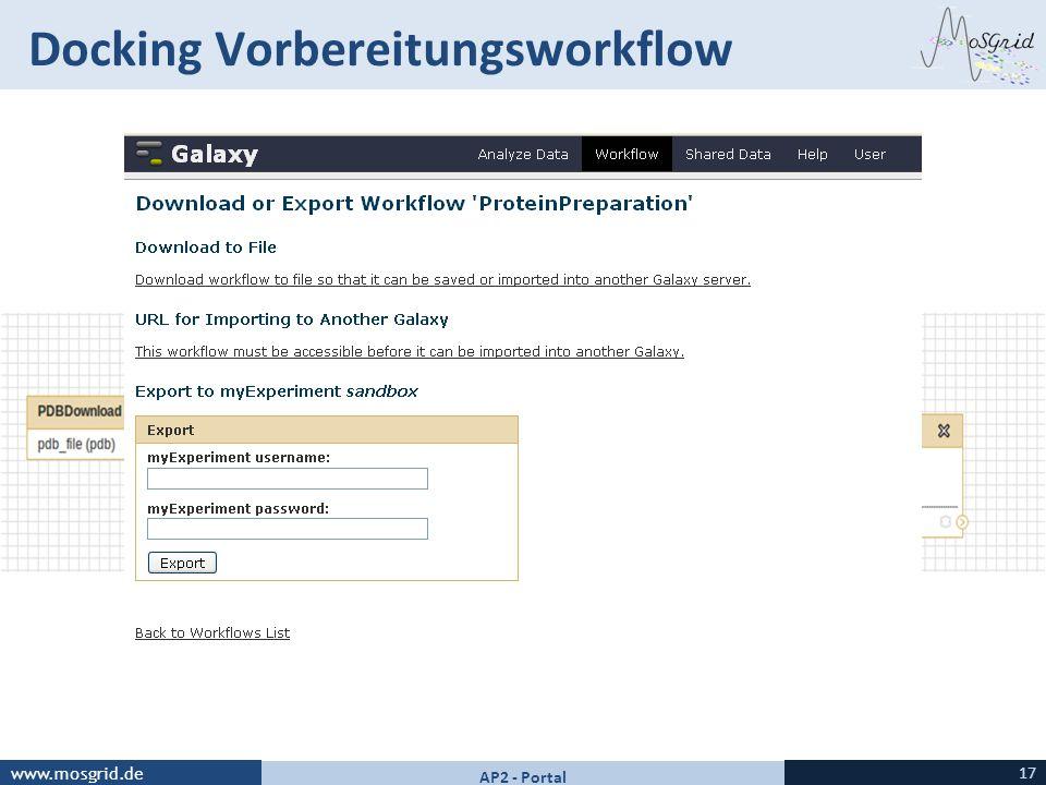Docking Vorbereitungsworkflow