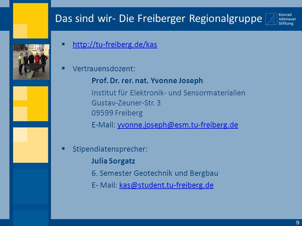Das sind wir- Die Freiberger Regionalgruppe