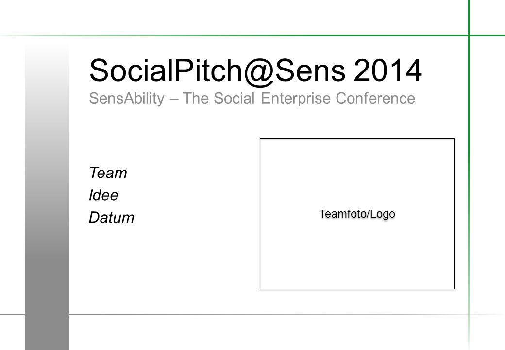 SocialPitch@Sens 2014 SensAbility – The Social Enterprise Conference