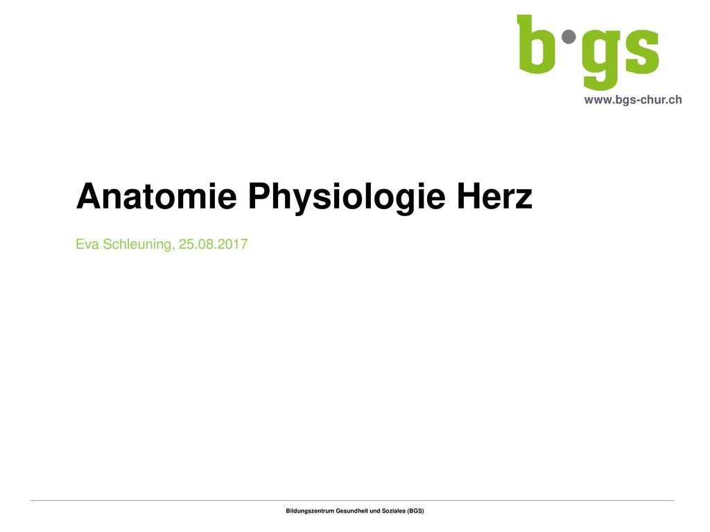 Anatomie Physiologie Herz - ppt herunterladen