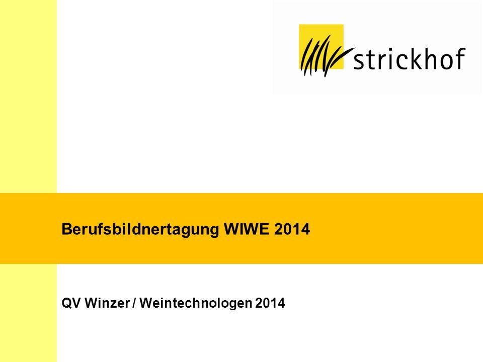 Berufsbildnertagung WIWE 2014