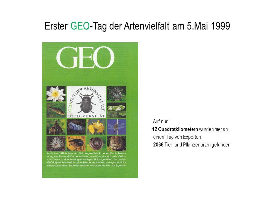Erster GEO-Tag der Artenvielfalt am 5.Mai 1999