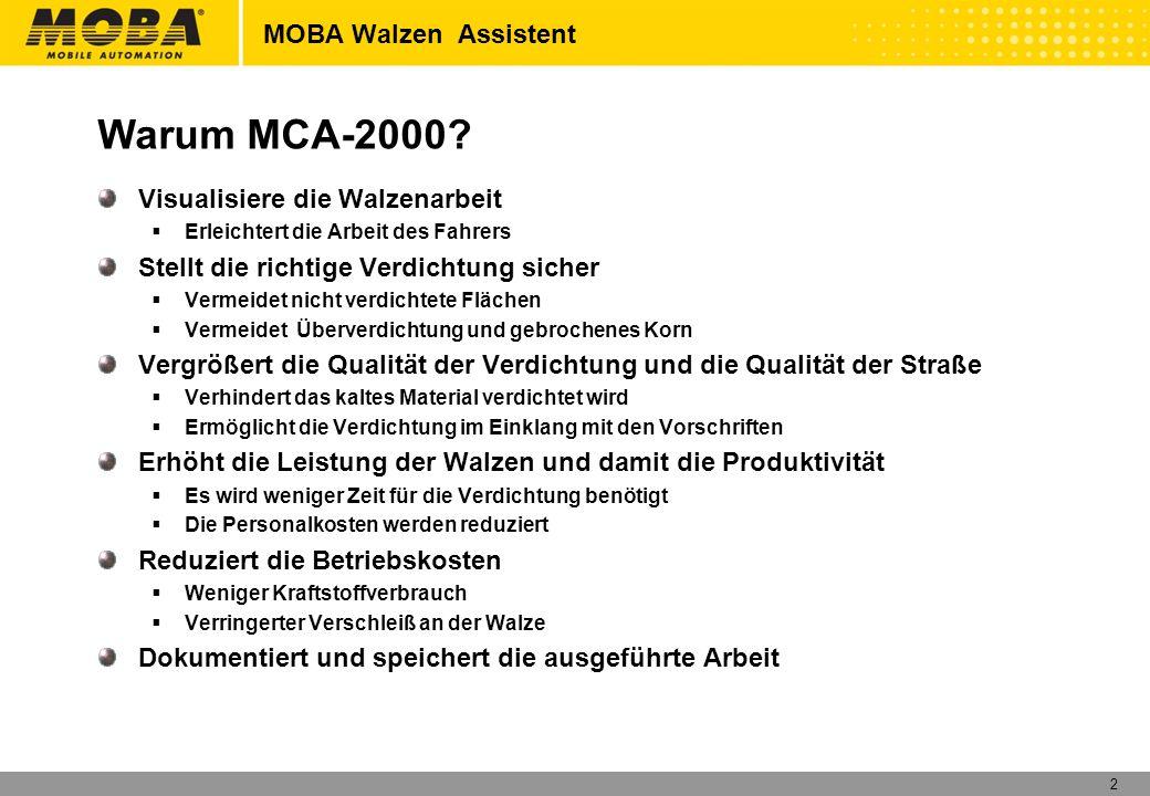 Warum MCA-2000 MOBA Walzen Assistent Visualisiere die Walzenarbeit