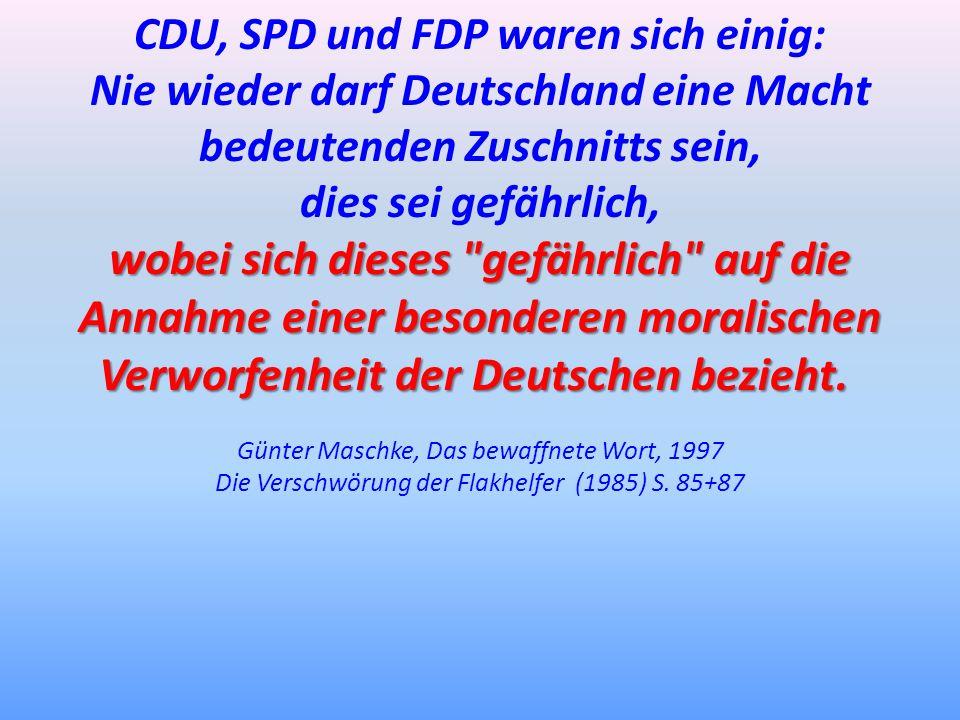 CDU, SPD und FDP waren sich einig: