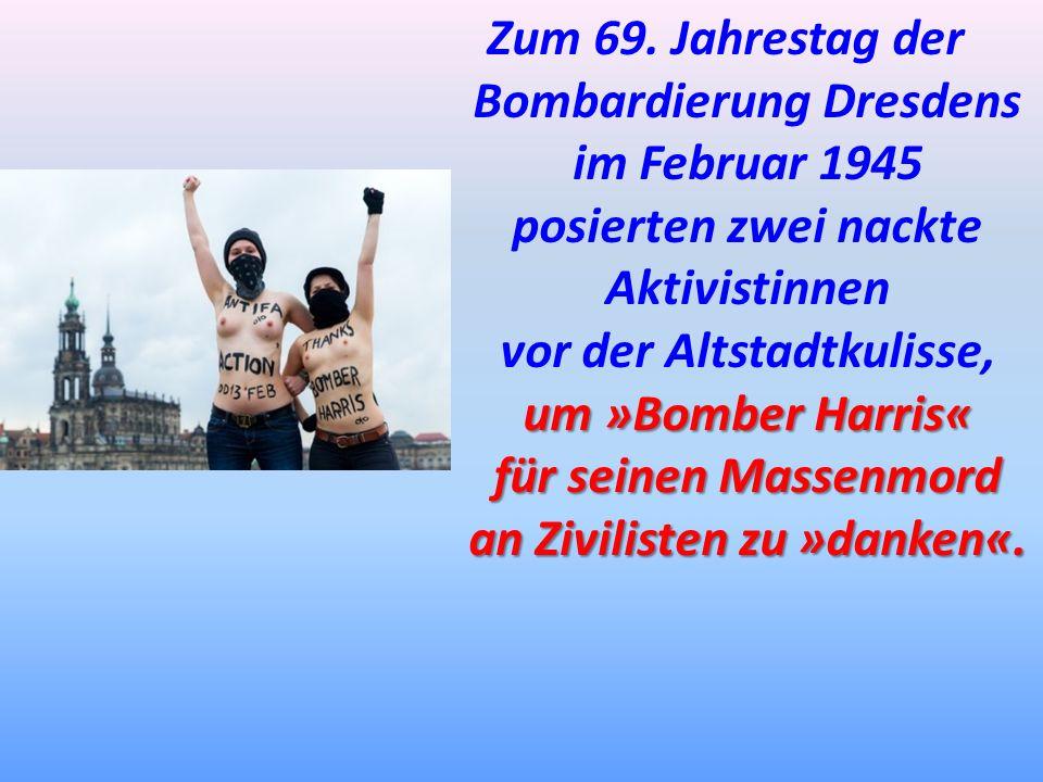 Bombardierung Dresdens im Februar 1945 posierten zwei nackte