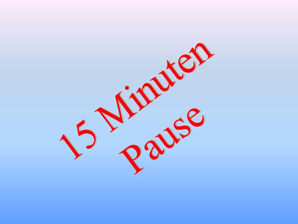 15 Minuten Pause