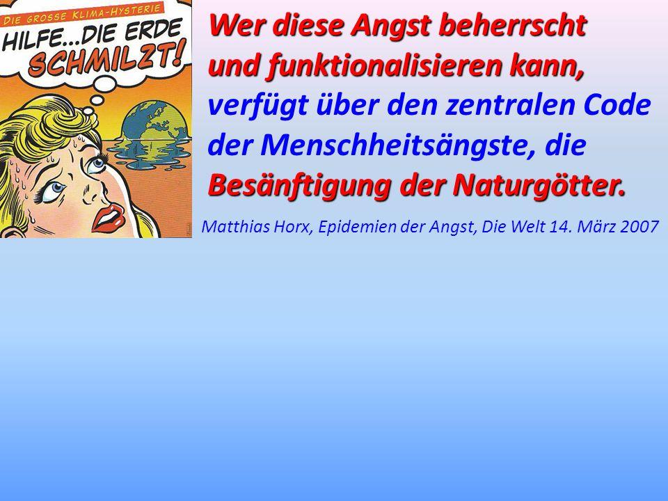 Matthias Horx, Epidemien der Angst, Die Welt 14. März 2007