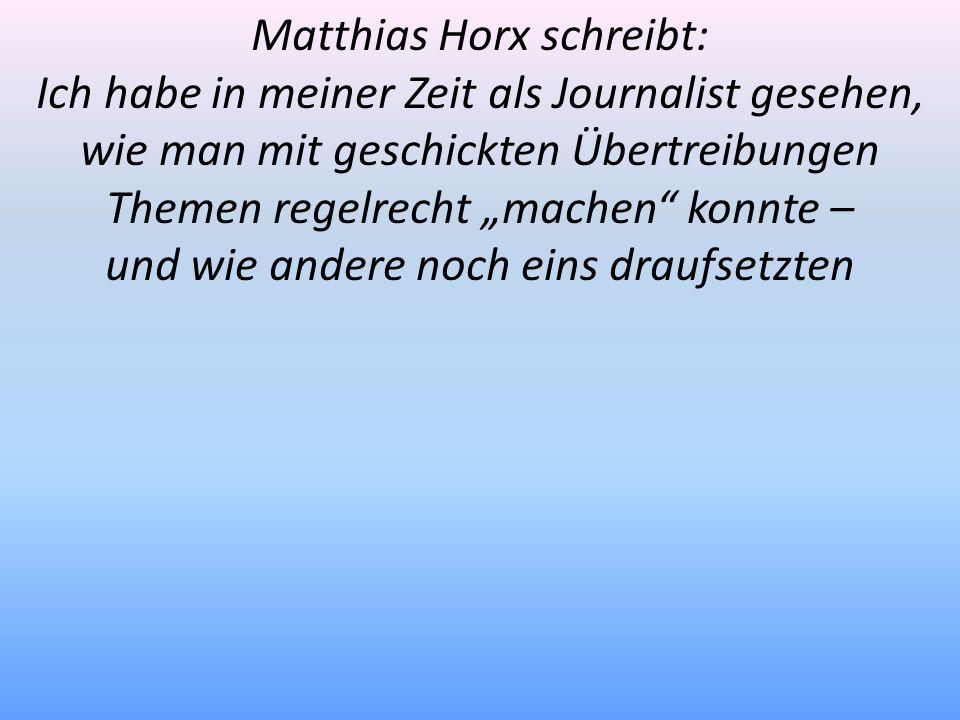 Matthias Horx schreibt: