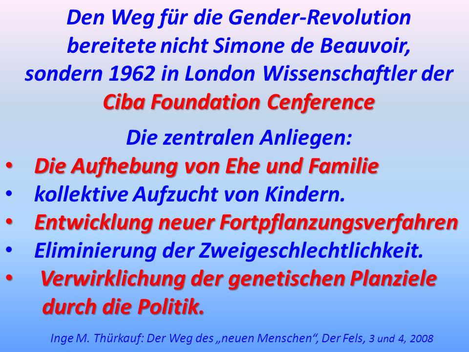Den Weg für die Gender-Revolution bereitete nicht Simone de Beauvoir,