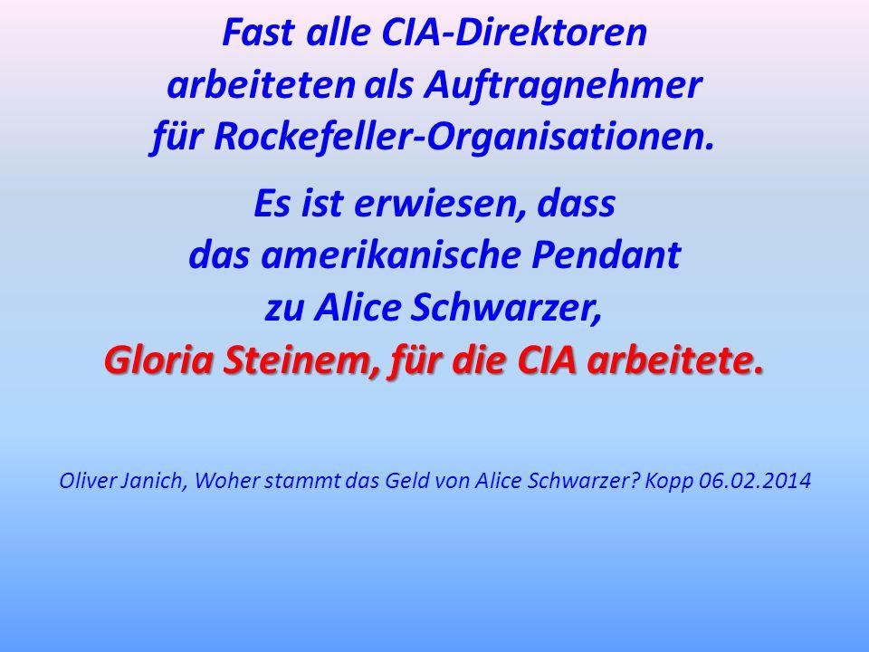 Fast alle CIA-Direktoren arbeiteten als Auftragnehmer