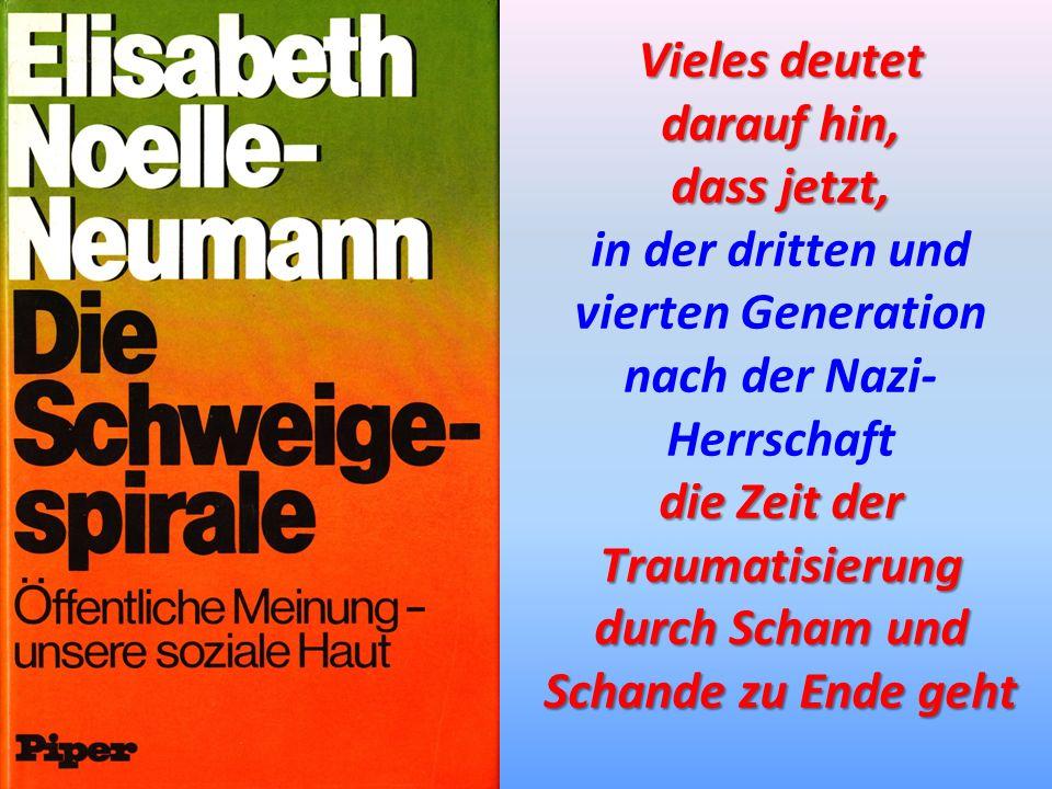 in der dritten und vierten Generation nach der Nazi-Herrschaft