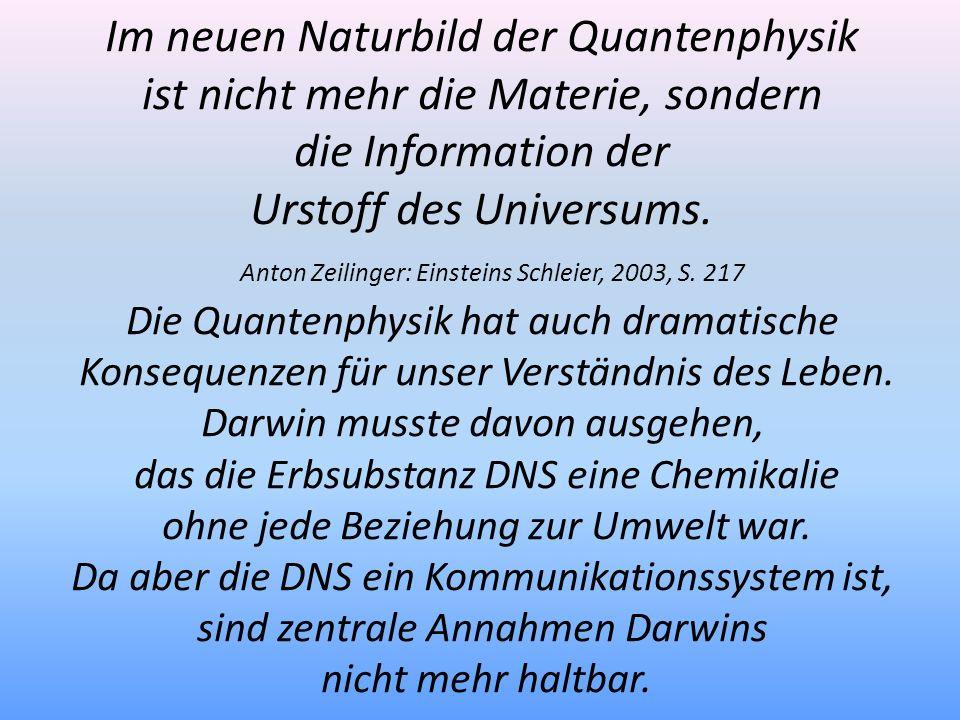 Im neuen Naturbild der Quantenphysik