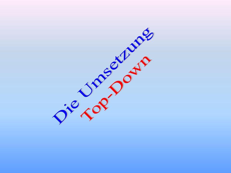 Die Umsetzung Top-Down