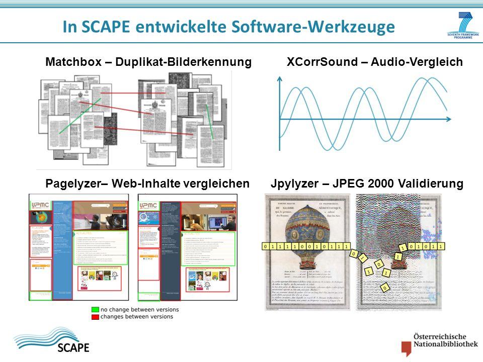 In SCAPE entwickelte Software-Werkzeuge