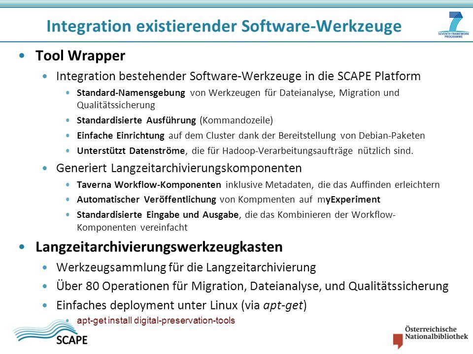 Integration existierender Software-Werkzeuge