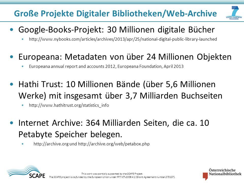 Große Projekte Digitaler Bibliotheken/Web-Archive