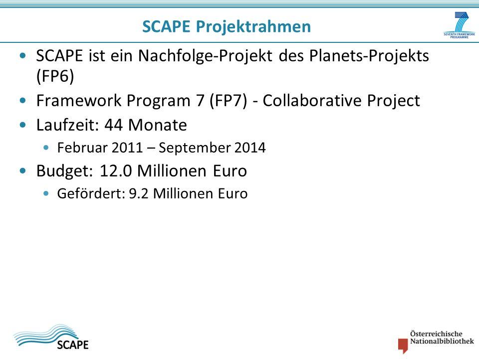 SCAPE ist ein Nachfolge-Projekt des Planets-Projekts (FP6)