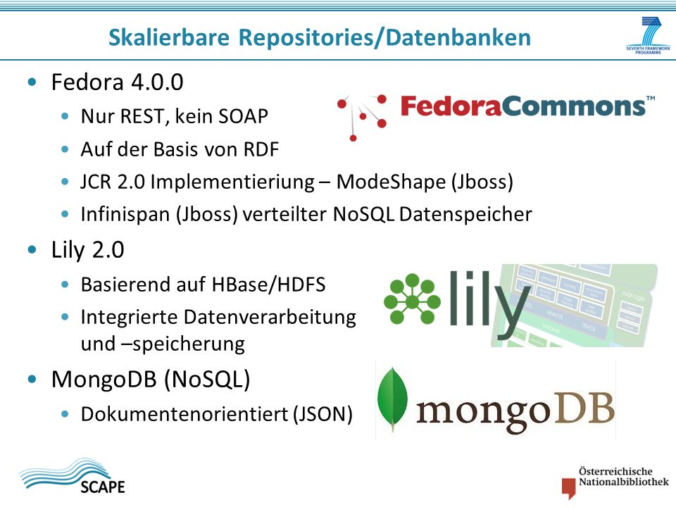 Skalierbare Repositories/Datenbanken