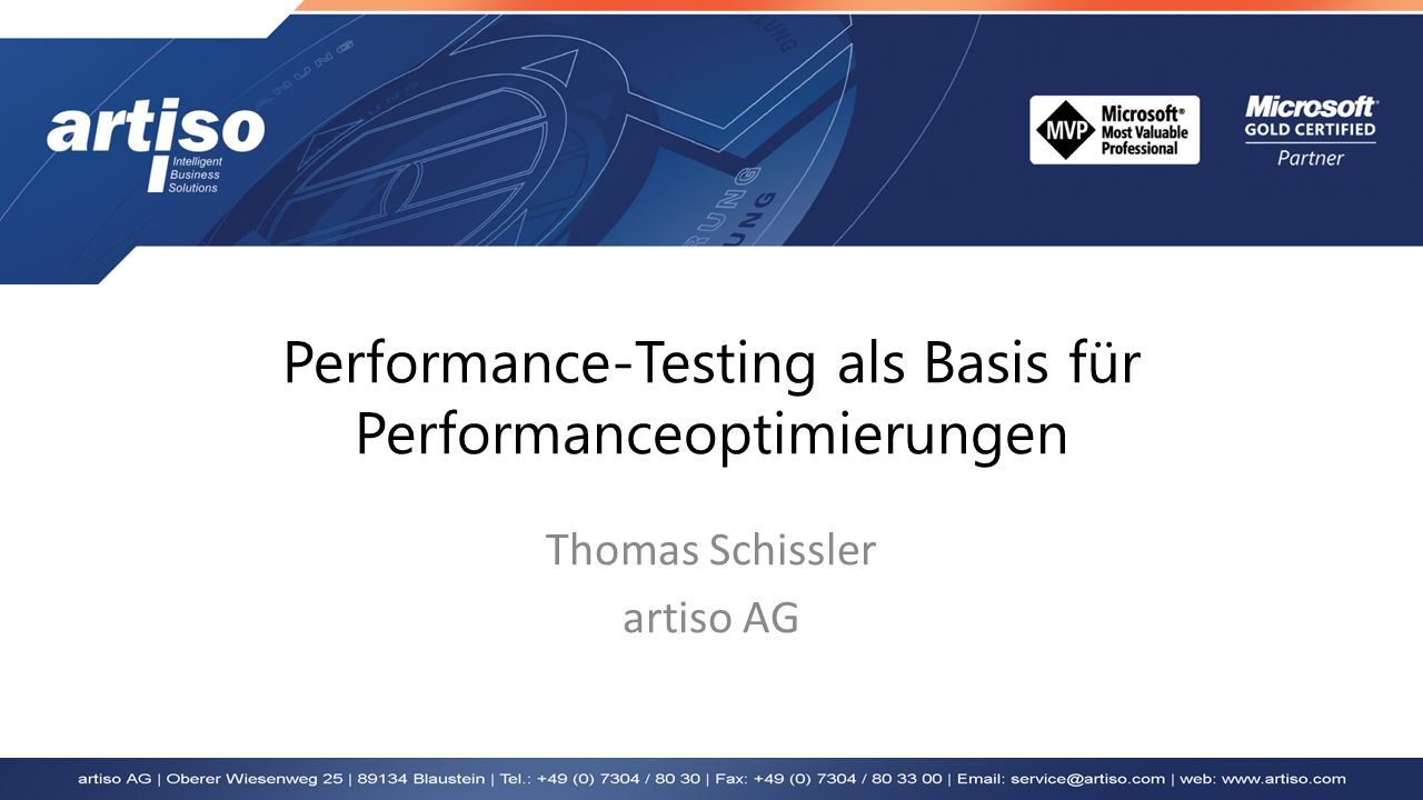 Performance-Testing als Basis für Performanceoptimierungen